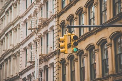 Traffic signal in SOHO NEWYORK