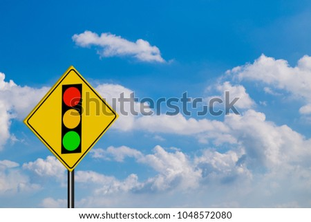 Traffic Signs,of red light on sky background #1048572080
