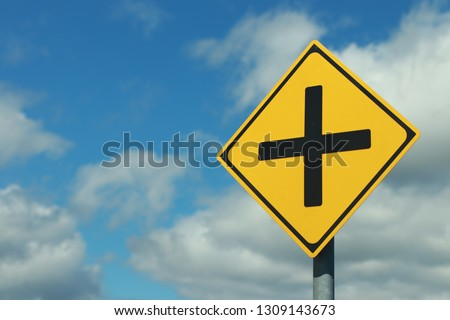 Traffic Signs.traffis signs beware of intersections.