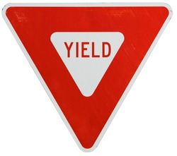 Traffic Signs: Yield Sign on White