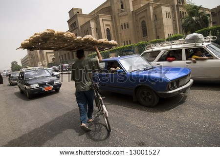 traffic situation in cairo, egypt.