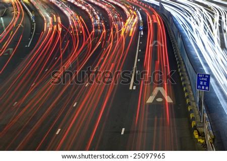 Traffic Through Downtown in HongKong #25097965