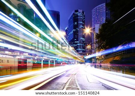Traffic trail in a city #151140824