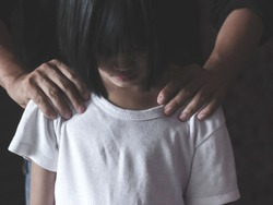 trafficking concept, child was a victim of human trafficking, human rights violations, missing kidnapped,