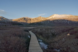 Trail leading to Mount Bierstadt a Colorado 14er near Georgetown and Guanella Pass