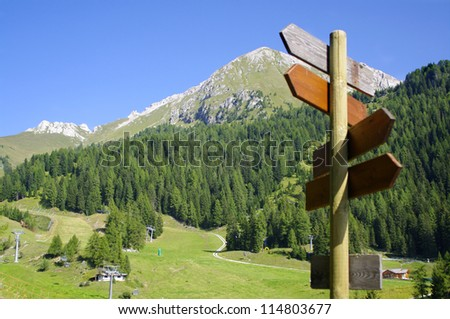 trail on italian alps