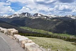 Trail Ridge Road. Rocky Mountain National Park. Alpine road. Mountain pass
