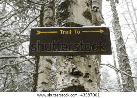 Trail To Sign (blank)