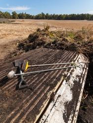 Trailer delivering soil and plants for composting