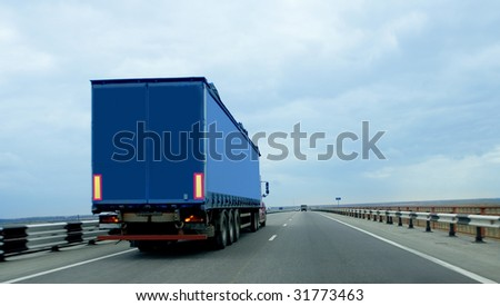Trailer on road #31773463