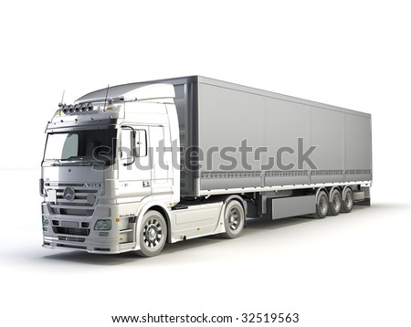 trailer on the white background