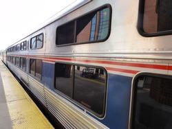 Train at Train Station Platform