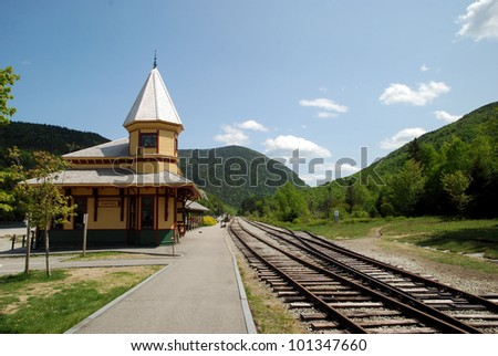 Train Depot in the White Mountains of New Hampshire / Crawford Notch