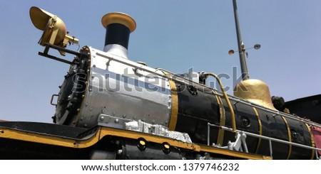 Train engine steam engine