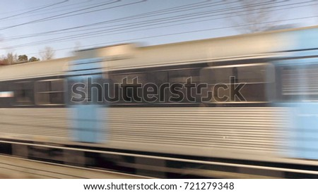 Train in motion , with motion blur effect #721279348