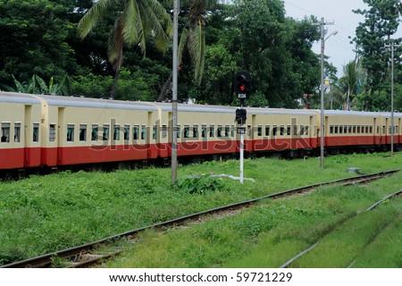 Train in Yangon, Burma - Myanmar