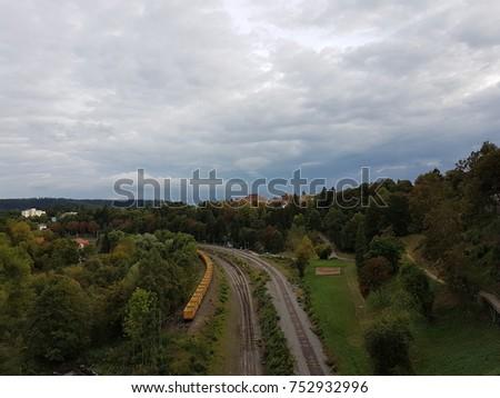 train landscape, country #752932996
