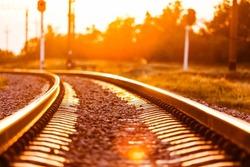 Train, railroad, night.