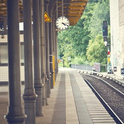 Train station background