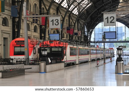 Train Station Estacio de Francia in Barcelona, Spain.