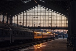 Train station in Budapest, Hungary
