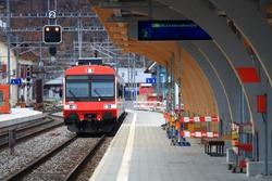 Train Station in Interlaken Switzerland