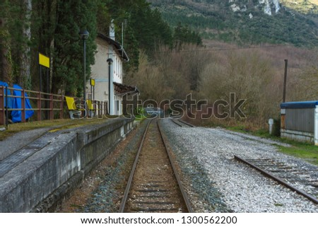 train station in the forest #1300562200