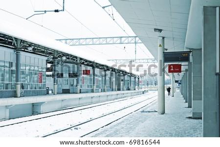 Train station in winter