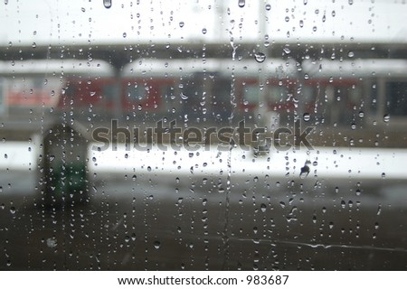 rainy day wallpaper.  through window (rainy day)