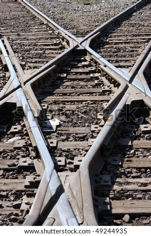Train track crossing