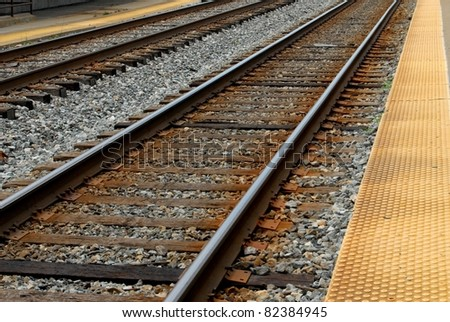 Train Track in Rockville, Maryland USA