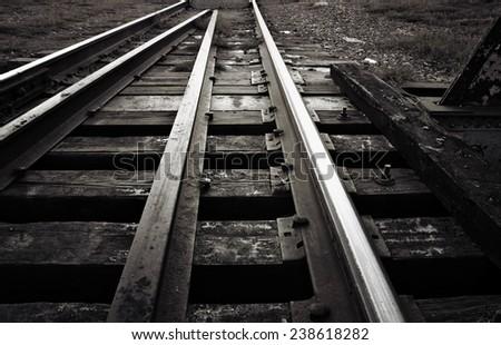 train tracks heading towards...