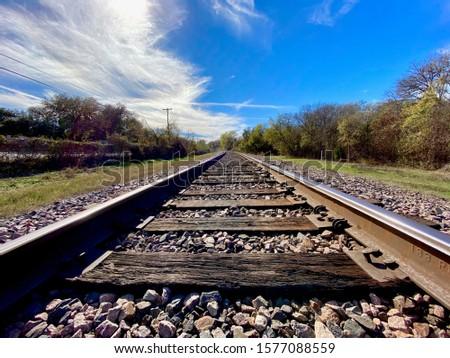 Train Tracks in the sunlight