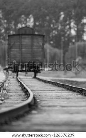 Train wagon Auschwitz Birkenau
