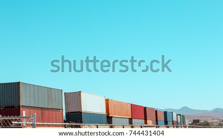 train with containers in the...