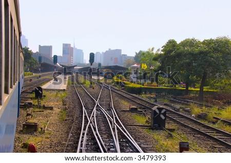 train yard - stock photo
