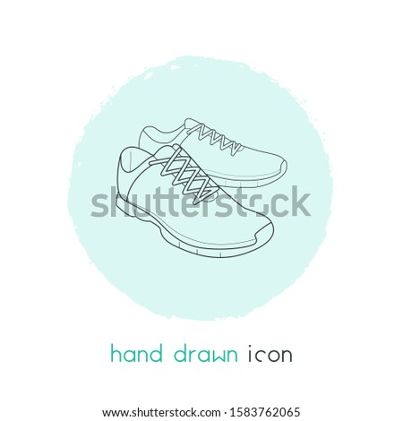 Trainer shoes icon line element. illustration of trainer shoes icon line isolated on clean background for your web mobile app logo design.