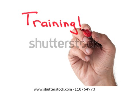 Training - hand writing on white board