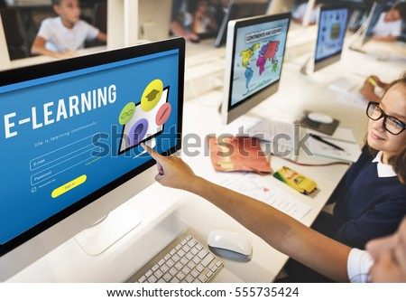 Training Study Knowledge E-learning Concept #555735424