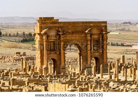 trajan's arch of timgad  a...