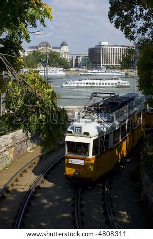 tram and tourism ship in budapest