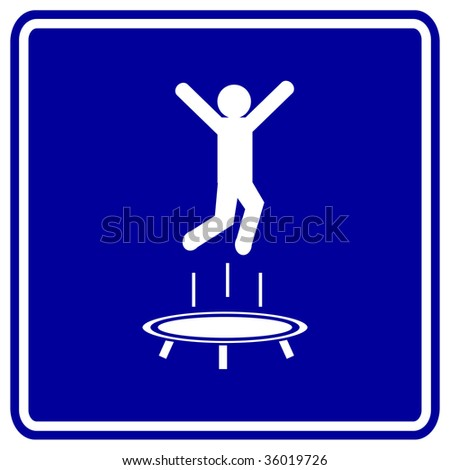 trampoline jumping sign