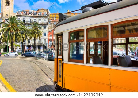 Trams in Lisbon, Portugal #1122199019