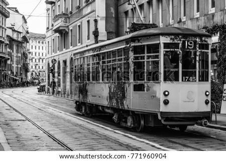 Trams in Milano #771960904