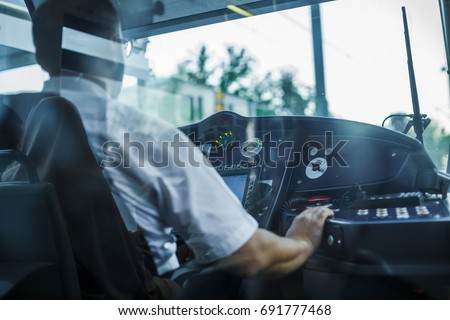 Tramway driver cabin