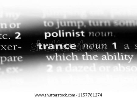 trance word in a dictionary. trance concept.