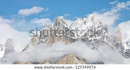 Trango Towers Panorama, Karakorum Mountains, Pakistan