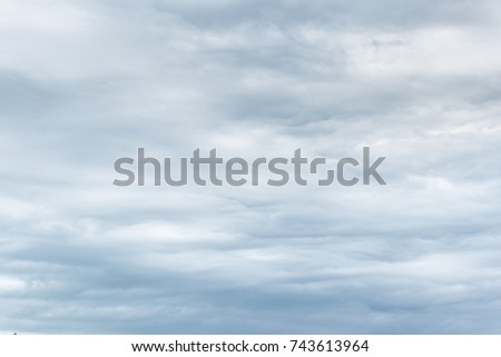 Tranquil dull cloudy sky without sun