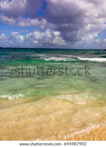 Tranquil Ocean, Playa Del Carmen, Quinta Roo, Mexico Beach, Yucatan Peninsula