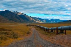 Trans-Alaskan oil pipeline in the north slope of alaska